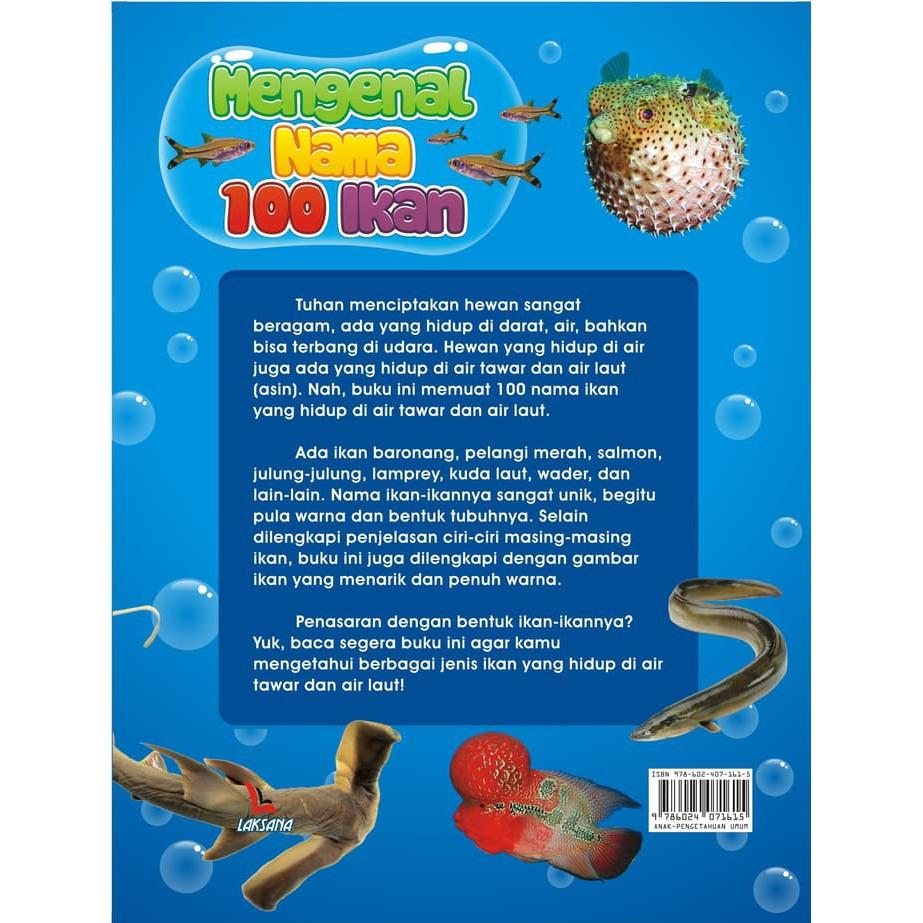 Buku Mengenal Nama 100 Ikan Air Tawar & Air Laut
