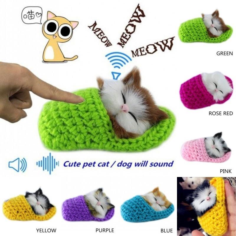 New Lifelike Kid Toys Cute Plush Cat Soft Doll Lifelike Simulation Sound Toys