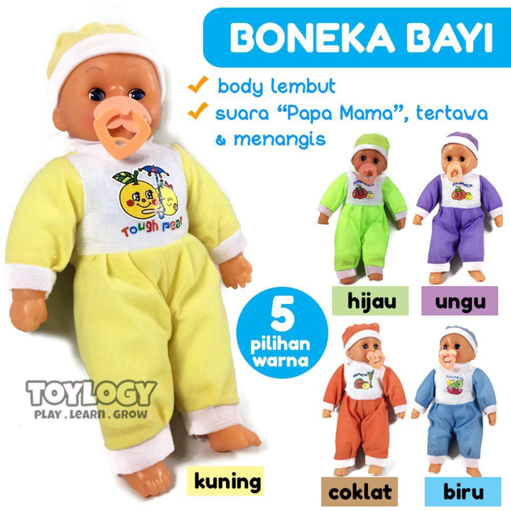 SPESIAL AWAL TAHUN BONEKA BAYI BABY DOLL MENANGIS TERTAWA BICARA MAMA PAPA  + NGEDOT  c3ff493f67