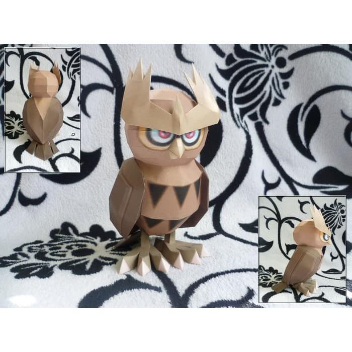 Diy Miniatur Papercraft Hewan Burung Hantu Shopee Indonesia