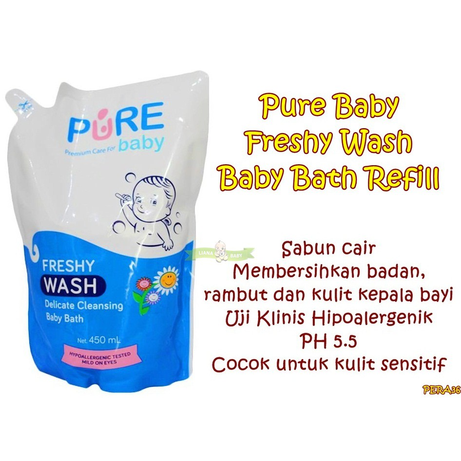 Pure Baby Bath Wash Freshy Refill 450 Ml Shopee Indonesia Buy 1 Get Free Purebaby Shampoo 450ml