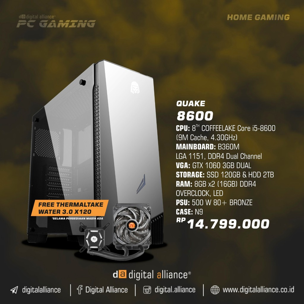 Limited Free Digital Alliance Pc Gaming Rakitan Talitakum 1600 Nv Da 2700x Shopee Indonesia