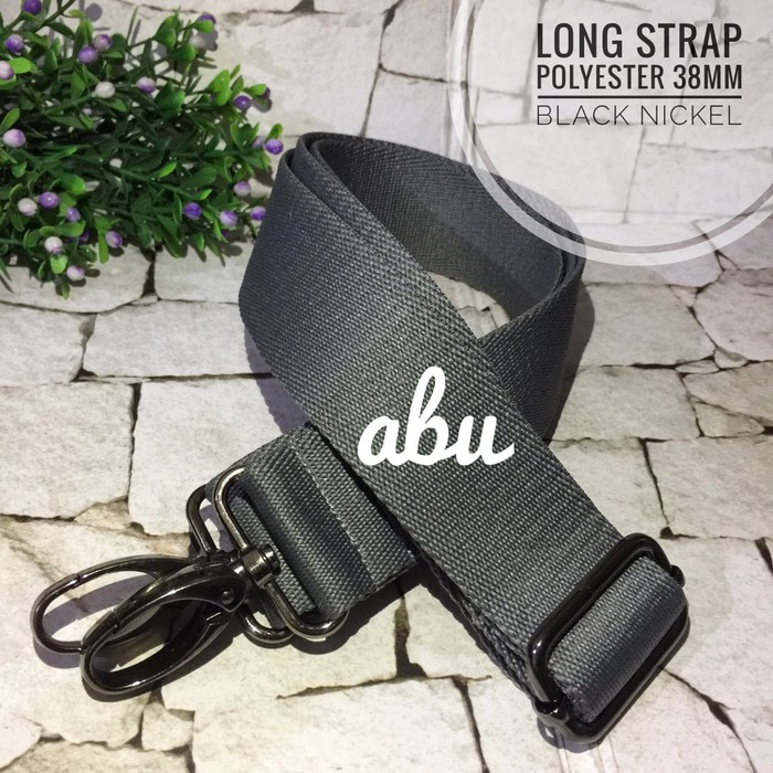 Jual Tali Tas Siap Pakai Long Strap Polyester Halus 38mm Black Nickel Terlaris Shopee Indonesia