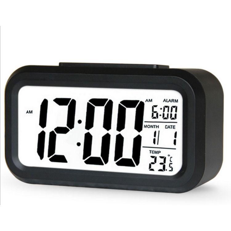 Jam Alarm Digital LED Dilengkapi Kalender Thermometer dengan Cahaya  Belakang Warna Biru  5204cf89a9