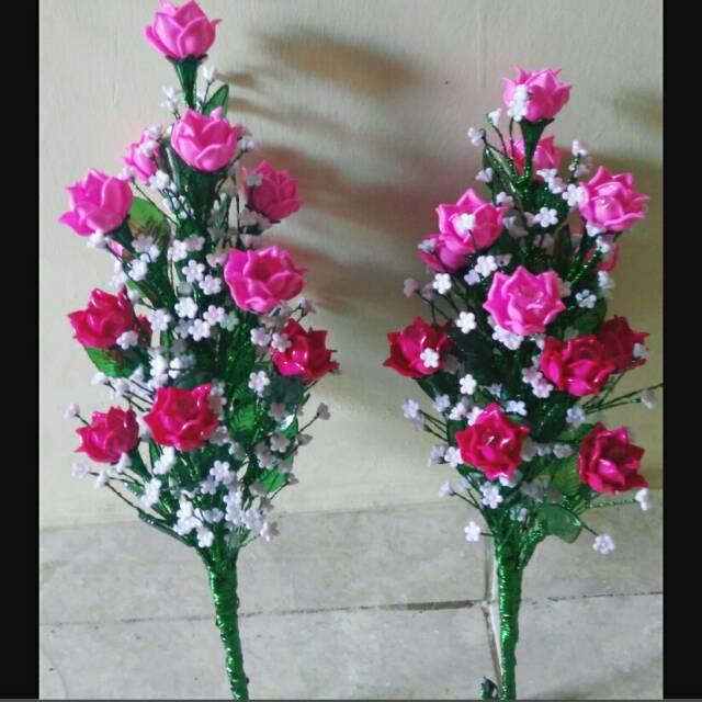 Rangkaian Bunga Hias Bunga Manik Akrilik Shopee Indonesia