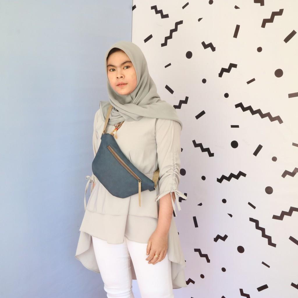 Bag Zavina Navy Shopee Indonesia Varetta Black Hitam L