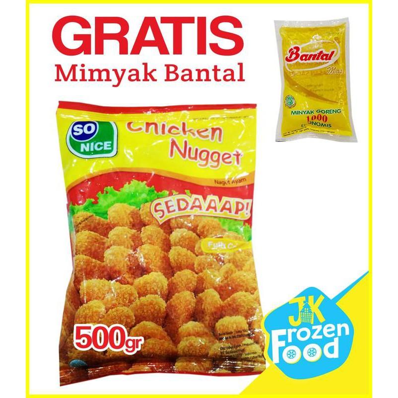 Sale Nugget Ayam 500gr So Nice Sonice Naget Ayam Daging Olahan Terbaru