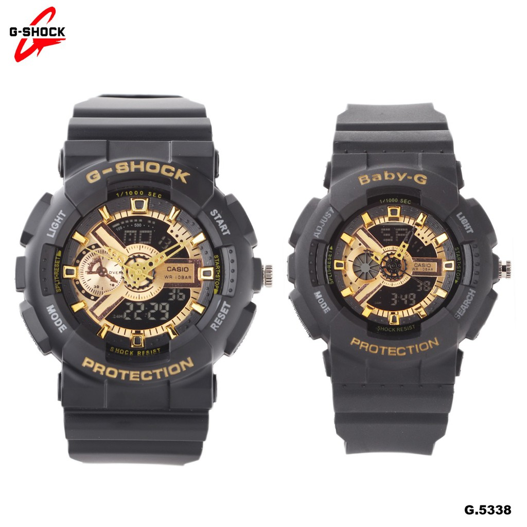 JAM TANGAN COUPLE G-SHOCK BABY-G CASIO G-5146 SERI BLACK HS  9522f8cc81