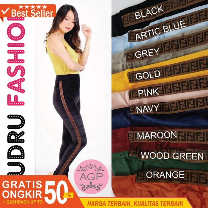 Attar Legging Bludru Velvet Celana Legging Bludru Fashion Wanita Jumbo Leging Bludru Murah Shopee Indonesia