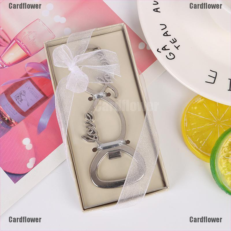 Cardflower Love Bottle Opener Favors And Gift Wedding Gifts For Guests Wedding Souvenirs Shopee Indonesia