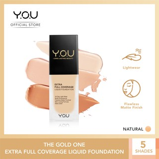 YOU The Gold One Extra Full Coverage Liquid Foundation 20 ml [Flawless Matte Finish]