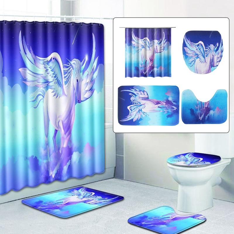 Dekorasi Kamar Mandi Tahan Air Gambar Unicorn Pegasus Shopee