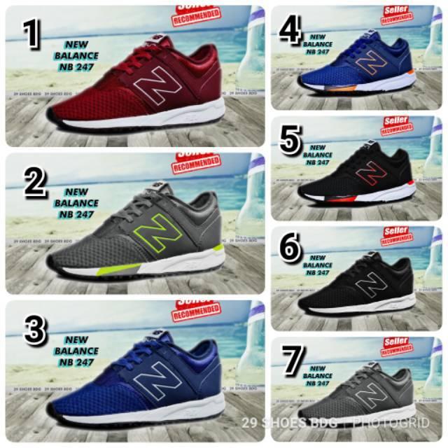 Sepatu Pria New Balance NB 247 sneakers pria olahraga santai casual running  gym  809f18d5ed
