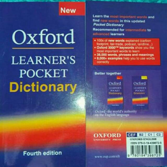 Oxford Learn Pocket Dictionary 'fourth edition' New