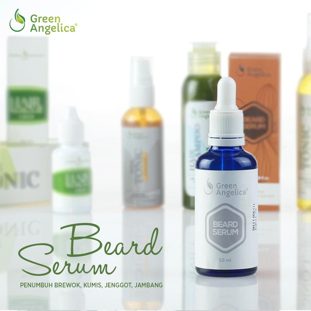 [ AMPUH ] Penumbuh Kumis Dan Jenggot Beard Serum Green Angelica | Shopee Indonesia