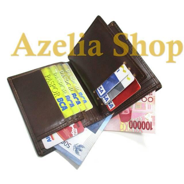 Dompet kulit asli tanggung panjang 3 4 pria wanita banyak kartu sapi premium  lipat murah polos garut  aa8dc0e5a4