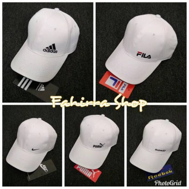 World Cup 5 Color Couples FILA Baseball Cap Bend Eaves Adjustable Hip Hop Hat Topi | Shopee Indonesia