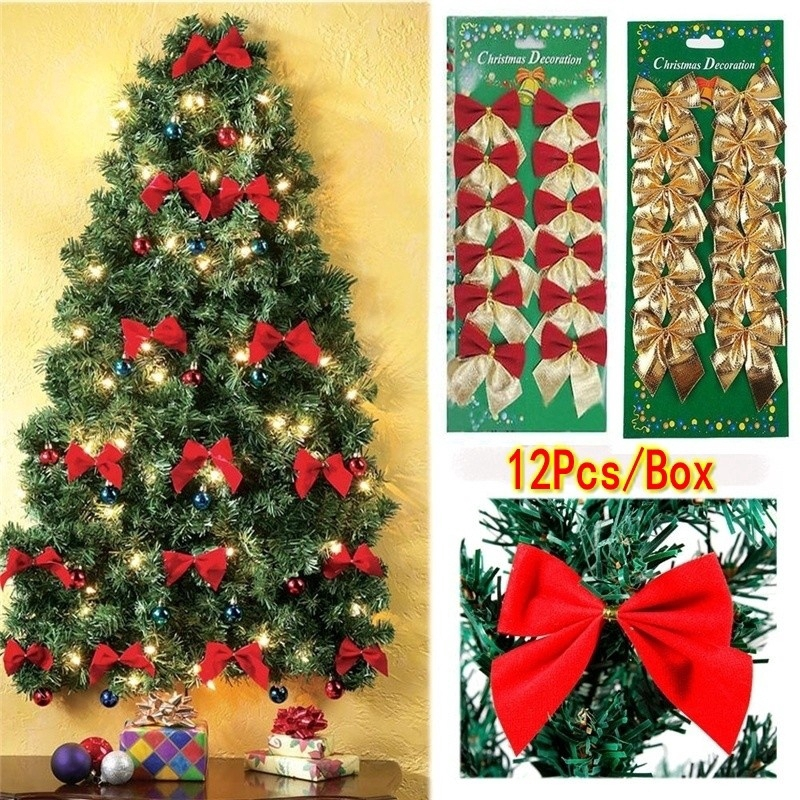 12pcs Pita Hiasan Pohon Natal Untuk Dekorasifestivalpestarumah