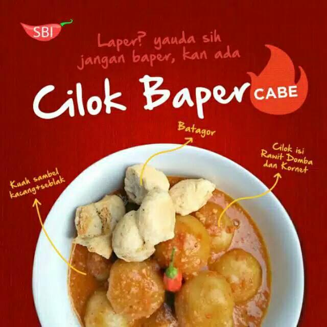Cilok Baper Cabe Cabean Makanan Cemilan Pedas Asli Bandung Seblak
