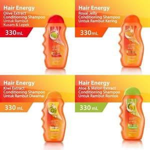 ❄️MATCHA❄️MAKARIZO HAIR ENERGY FIBERTHERAPY CONDI SHAMPOO 170 320 ML SAMPO PEMBERSIH RAMBUT 2IN1-3