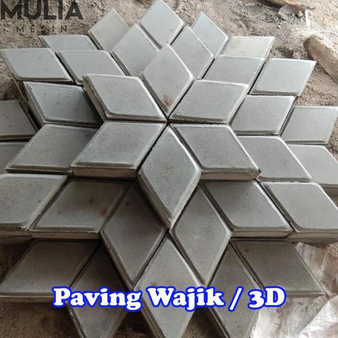 Cetakan Paving Wajik Cetakan Paving 3D Cetakan Paving Belah Ketupat Termurah