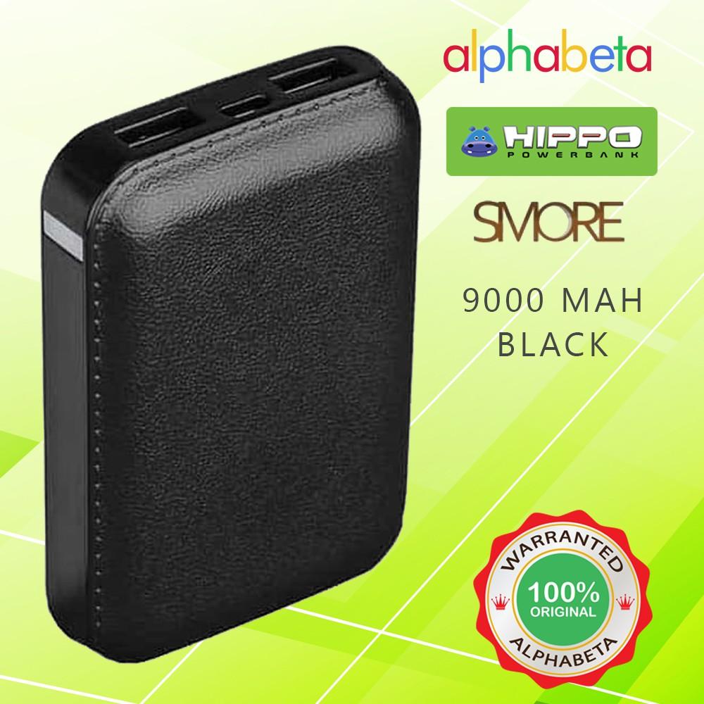 HIPPO POWER - BANK SMORE 9000 MAH SIMPLE PACK BLACK PRODUK ORIGINAL