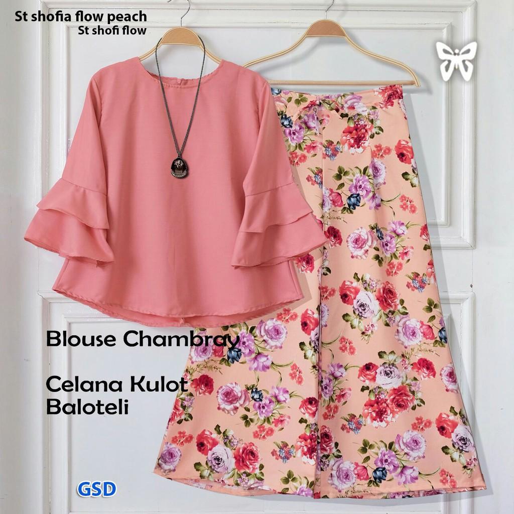 stelan NU kids/atasan blus celana hijab anak/setelan blouse tunik celana kulot anak | Shopee Indonesia