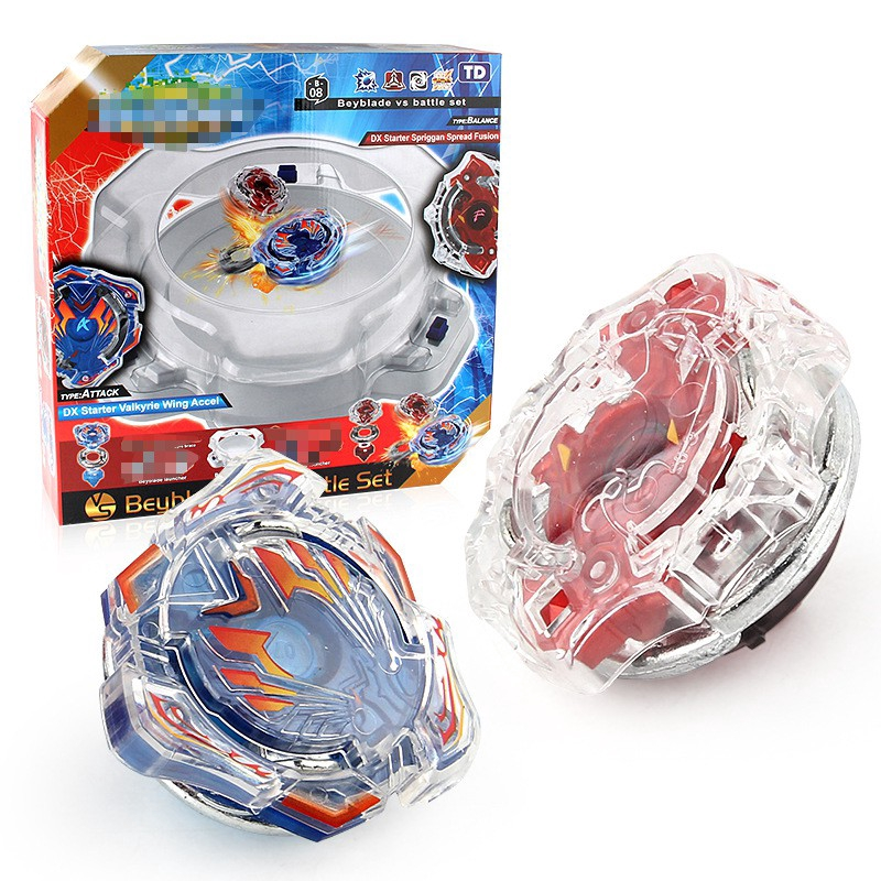 ATTAQUE Spinning Tops B-01 Burst System DX Starter Valkyrie Wing Accel Nouveau