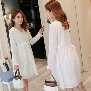 Szy Maternity Dress New Lace Pregnant Women Long Sleeve Shirt Pregnancy Wear