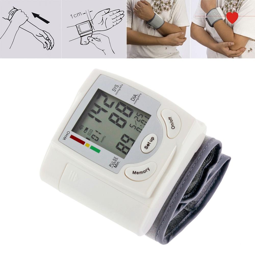Monitor Pengukur Detak Jantung Nadi Tekanan Darah Digital Lcd Untuk Alat Kesehatan Tensi Blood Pressure Pergelangan Tangan Uzeq Shopee Indonesia