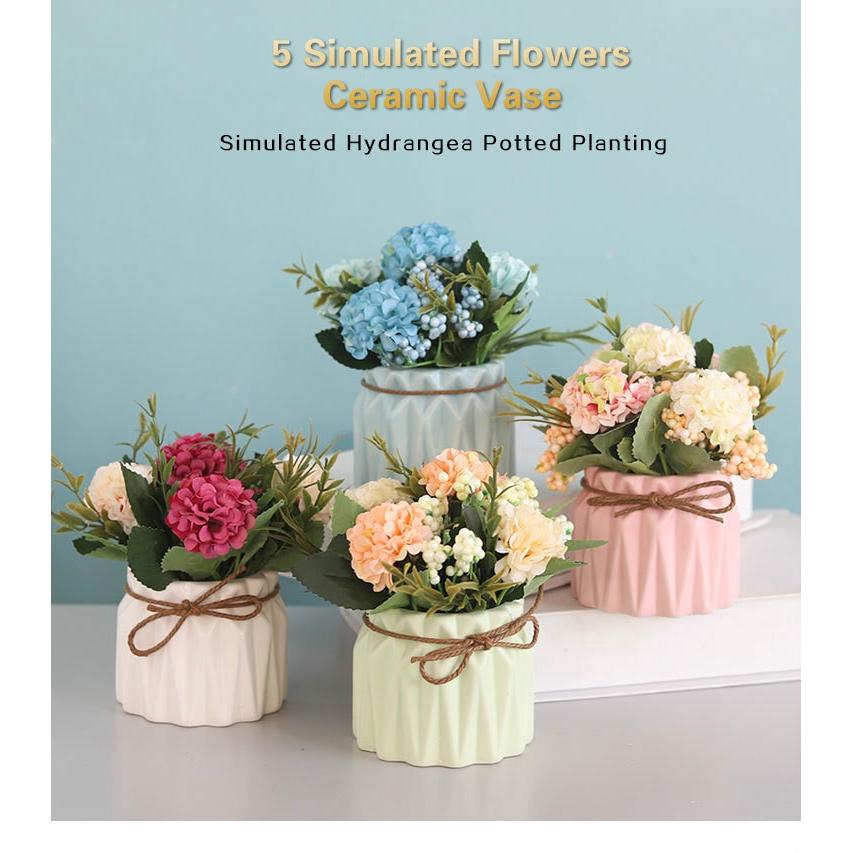 Empat Warna Ceramic Vase Artificial Flowers Eropa Bunga Buatan Pot Tanaman Bunga Hias Besar Vas Bunga Keramik Buket Bunga Bunga Hias Dekorasi Rumah Ornamental Flowers Shopee Indonesia