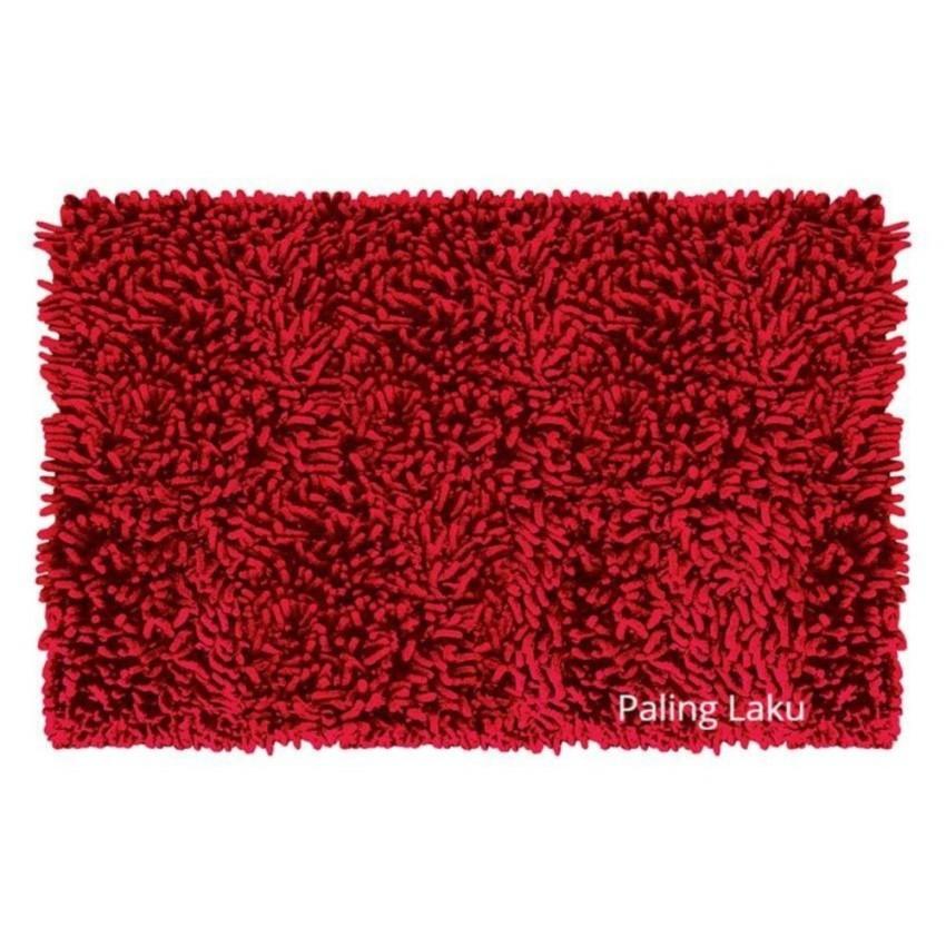 Keset Cendol Dof Mocca 40 x 60 cm karpet bulu / doormat chenille Cream | Shopee Indonesia