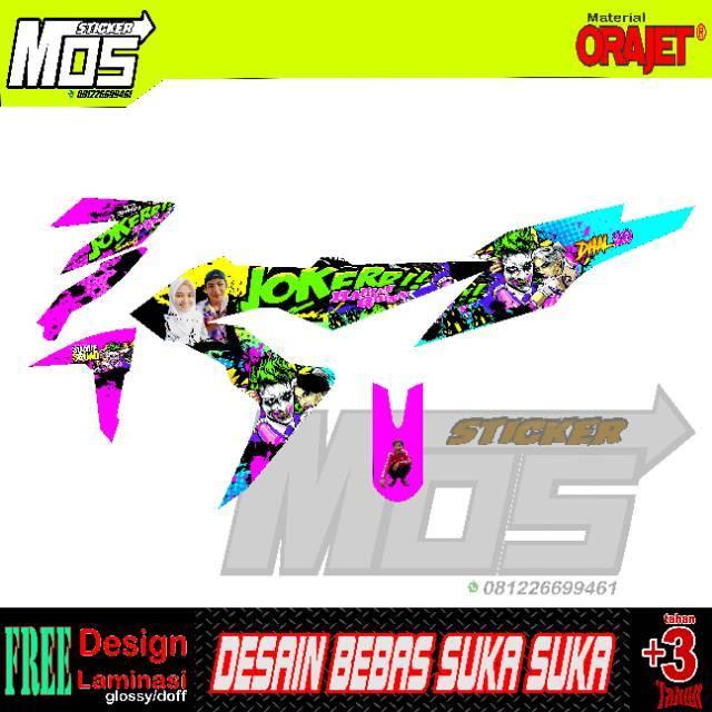 Decal Sticker Stiker Honda Sonic Motif Joker Keren Dan Elegant Bisa Request Design Shopee Indonesia