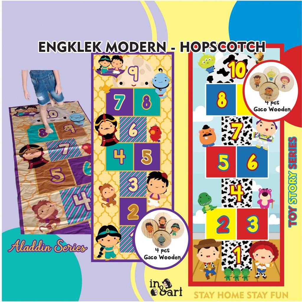 Engklek Modern Mainan Edukasi Anak Hopscotch Board Game Mainan Tradisional Anak Sondah Shopee Indonesia