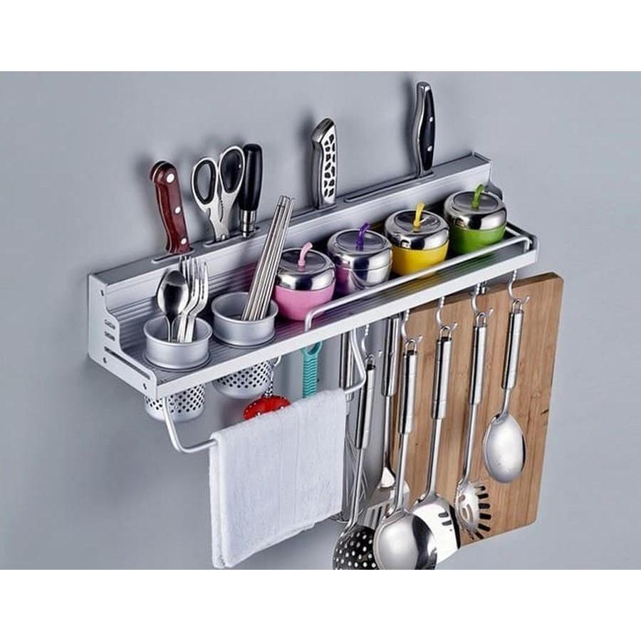 perlengkapan dapur Rak Dapur Minimalis Bahan alumunium +