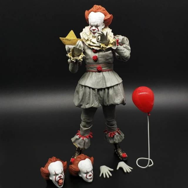 Neca Pennywise It 2017 Action Figure Artikulasi Badut Horror Clown Joker Seram Horor Serem Shopee Indonesia