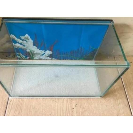 Terlaku ✰ Aquarium 30x15x20 Aquarium Mini Aquarium Aquascape Akuarium Cupang Guppy Aquarium  *