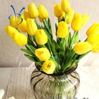 bom buket bunga tulip buatan dengan bahan kain untuk