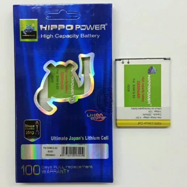 Baterai battery batre HIPPO samsung galaxy S3 (i9300) 2850mah