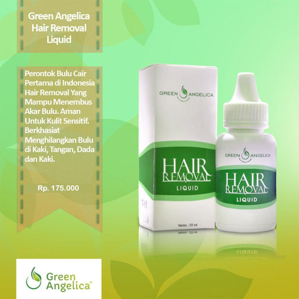 Hair Removal Perontok Bulu Ketiak Kaki Tangan Hingga Permanen Green Angelica Shopee Indonesia