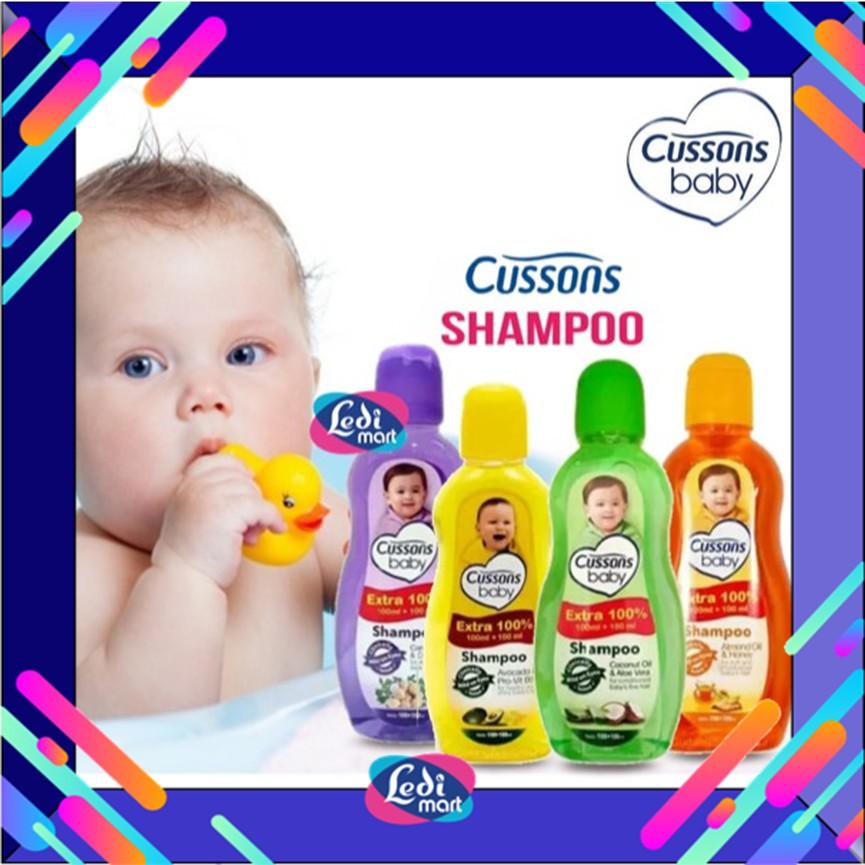ORIGINAL Cussons Baby Shampoo 100ml+100 ml & 50ml+50ml / Cusson Shampoo Bayi / LEDI MART