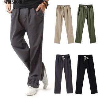 Freshone Musim Panas Linen Super Ventilate Pria Kasual Longgar Plus Ukuran  Celana Olahraga Lurus e8a12ffc0a