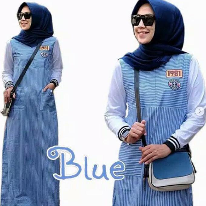 Gamis Gaul 2020 Fashion Wanita Dress Muslim Syari Terbaru Murah Tunic Blouse Gamis Merah Ladangki Shopee Indonesia