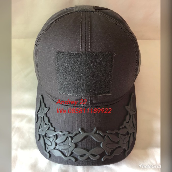topi pamen patch rubber melati 3 crem molay tactical  1dc3cf48bd