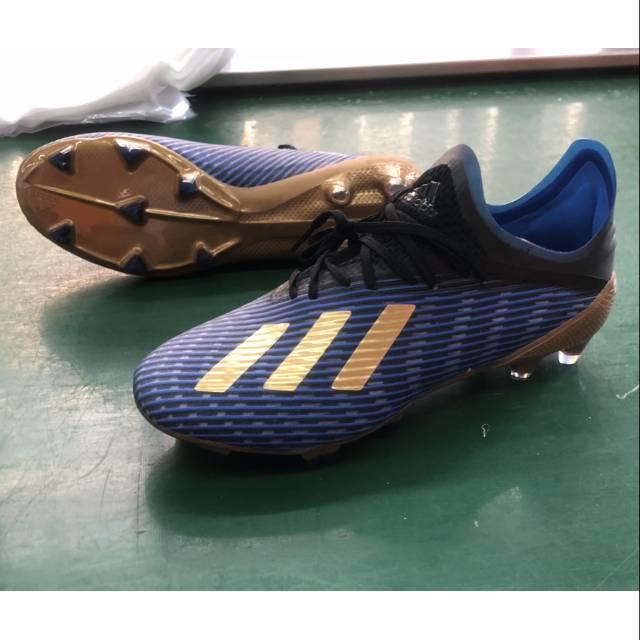 Sepatu Bola Adidas X19 1 Blue Gold Fg Shopee Indonesia