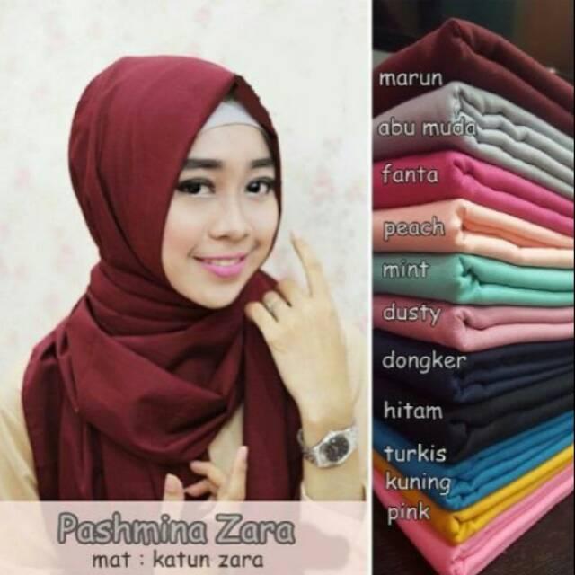 Kerudung Pashmina Zara Shopee Indonesia