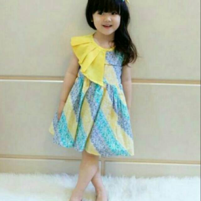 Foto Baju Batik Anak Modern Dress Batik Modern Baju Batik Anak Perempuan Dress Pesta Anak
