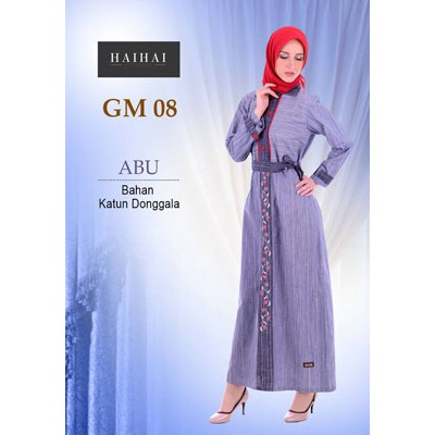 GAMIS DEWASA PREMIUM HAIHAI GM 14 / GAMIS HAIHAI GM / GM 14   Shopee Indonesia