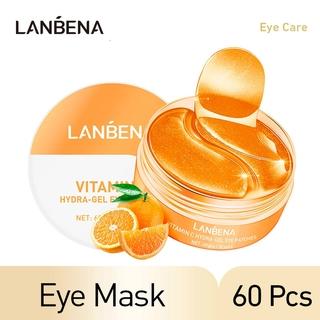 Lanbena 60pcs Masker Mata Vc Untuk Melembabkan + Mengencangkan + Mengecilkan Pori-Pori thumbnail
