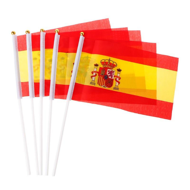 5Pcs Bendera Spanyol Spanyol untuk Dekorasi Outdoor ...